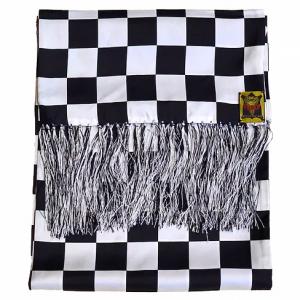 Checkered 100% Silk Scarf
